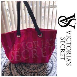 Victoria's Secret Striped Bling Tote Bag